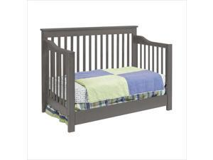 DaVinci Piedmont 4-In-1 Convertible Crib w/ Toddler Rail, Slate - M1921SL