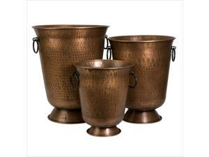 IMAX Corporation Meziere Planters in Copper (Set of 3)