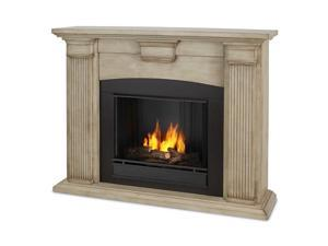 Real Flame Adelaide Indoor Gel Fireplace in Dry Brush White