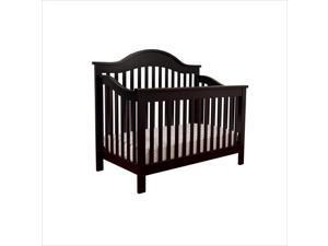 DaVinci Jayden 4-in-1 Convertible Crib in Ebony with Crib Mattress