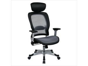 Office Star 327 Series Light Air Grid Back Office Chair in Black