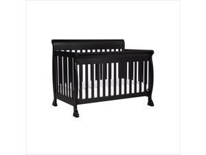 DaVinci Kalani 4-in-1 Convertible Wood Baby Crib with Toddler Rail in Ebony