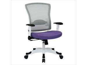 Office Star Pulsar White Frame Managers Office Chair in Purple