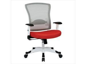 Office Star Pulsar White Frame Managers Office Chair in Red