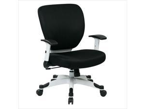 Office Star Pulsar Office Chair with Padded Mesh Seat and Back in Black