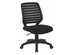 Office Star Work Smart Screen Back Task Chair in Black