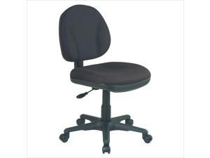 Office Star Sculptured Task Office Chair without Arms in Black