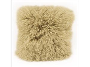 Moe's Lamb Fur Pillow in Green