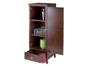 Winsome Brooke Jelly Close Cupboard with Drawer in Antique Walnut