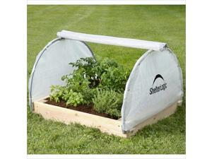 ShelterLogic Growit Backyard Round Style Raised Bed Greenhouse in White