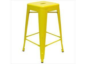 "AEON Furniture Galaxy 26.5""Backless Counter Stool in Yellow (Set of 2)"