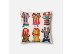"Loloi 1'6"" x 1'6"" Cotton Down Pillow"
