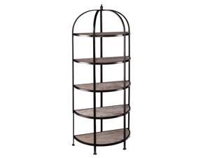 Southern Enterprises Vernon 5-Tier Rotunda in Matte Black