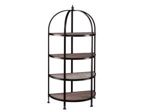 Southern Enterprises Vernon 4-Tier Rotunda in Matte Black