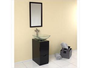 Fresca Stella Brilliante Bathroom Vanity in Espresso-Fiora in Chrome