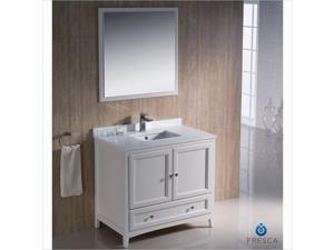 "Fresca Oxford 24"" Bathroom Vanity in Antique White-Fiora in Chrome"