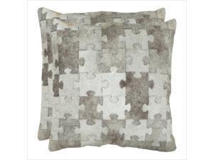 Safavieh Mason 22-inch Decorative Pillows in Grey (Set of 2)