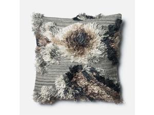 """Loloi 1'10"""" x 1'10"""" Wool Down Pillow in Granite"""