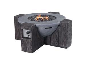 Zuo Hades Propane Fire Pit in Gray