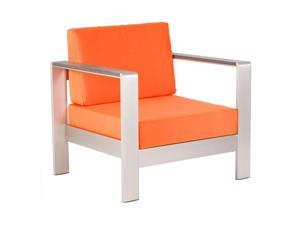 Zuo Cosmopolitan Outdoor Armchair Cushion in Orange