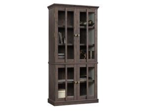 Sauder New Grange Storage Cabinet in Coffee Oak