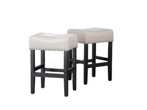 "Trent Home 26"" Counter Stool in Ivory (Set of 2)"