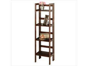 WINSOME TRADING-94852-Folding Shelf  4-Tier Antique Walnut