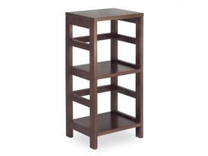 Winsome 92314 Espresso Beechwood SHELF2-SECT NARROW