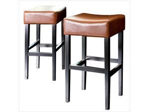 "Trent Home 30"" Rodriguez Backless Bar Stools in Hazelnut (Set of 2)"