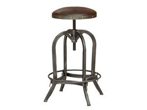 "Trent Home 26"" Rina Leather Adjustable Bar Stool in Brown"