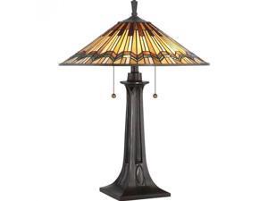 Quoizel Alcott Table Lamp in Valiant Bronze
