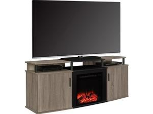 "Altra Furniture Carson 70"" Fireplace TV Console in Sonoma Oak"