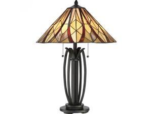 Quoizel Victory Table Lamp in Valiant Bronze