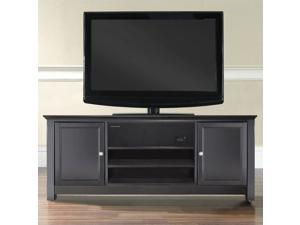 """Crosley Furniture 48"""" TV Stand in Black with Sound Bar"""