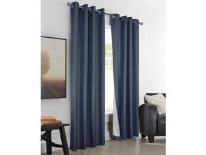 """Commonwealth Thermalogic Higate 84"""" Grommet Curtain Panel in Navy"""