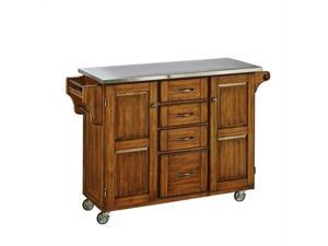 Home Styles Create-a-Cart Warm Oak Finish Stainless Top - 9100-1062