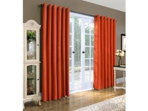 "Commonwealth Weathermate 84"" Grommet Curtain Panel in Coral (Set of 2)"