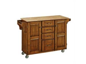 Home Styles Create-a-Cart Warm Oak Finish with Wood Top - 9100-1061