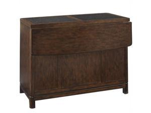 Home Styles Crescent Hill Kitchen Island in Tortoise Shell