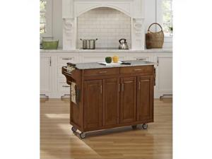 Home Styles Create-a-Cart Cottage Oak Finish SP Granite Top 9200-1063