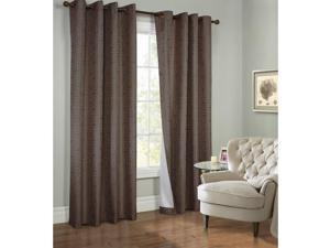 """Commonwealth Thermalogic Higate 95"""" Grommet Curtain Panel in Brown"""