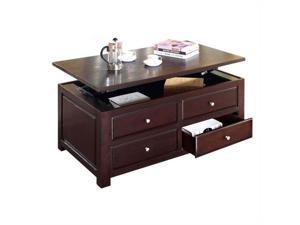 Malden Espresso Finish Coffee Table with Lift Top and Two  End Tables