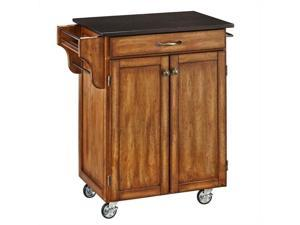 Home Styles Cuisine Cart Warm Oak Finish Black Granite Top - 9001-0064