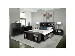 Prepac Series 9 Designer 5 Piece Bedroom Set in Black