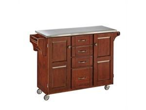 Home Styles Create-a-Cart Cherry Finish Stainless Top - 9100-1072
