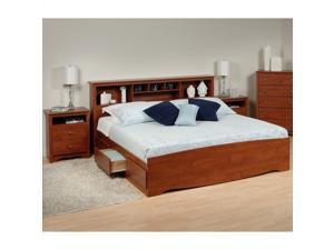 Prepac Monterey 3-Piece King Bedroom Set in Cherry