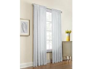 """Commonwealth Anna 95"""" Rod Pocket Curtain Panel in White (Set of 2)"""