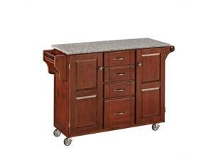 Home Styles Create-a-Cart Cherry Finish SP Granite Top - 9100-1073