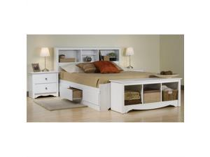 Prepac Monterey 4-Piece Queen Bedroom Set in White