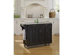 Home Styles Create-a-Cart Black Finish SP Granite Top - 9200-1043